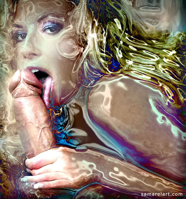 Erotic art blowjob