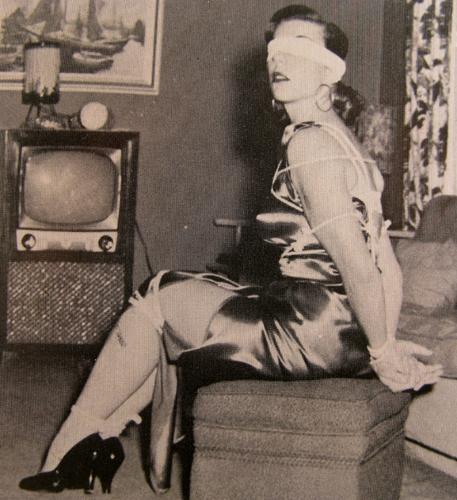 Vintage lingerie bondage
