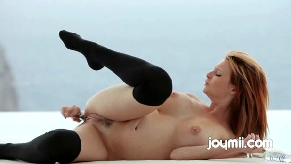 Busty Tarra White Reaches Her Orgasm While Masturbating With Her Dildo; Babe Big Tits Masturbation Red Head Toys