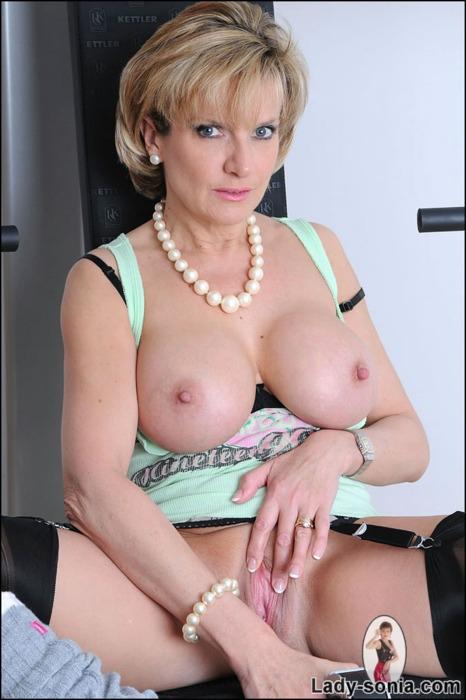 ; Big Tits Blonde Lingerie Milf Pussy