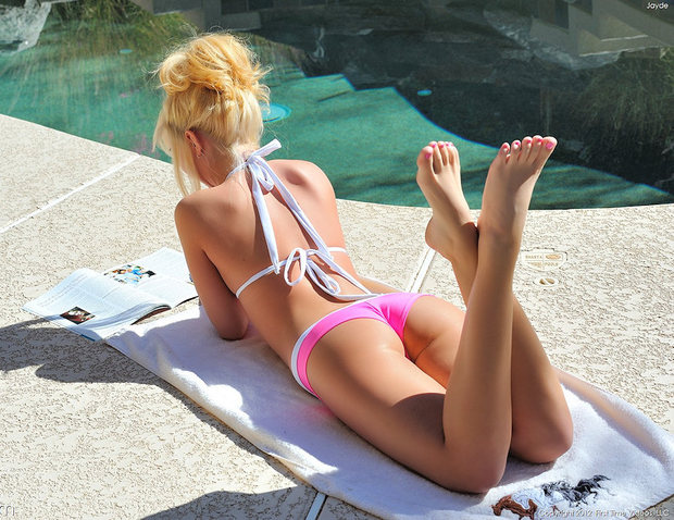 poolside summer treat; Blonde College Non Nude Teen