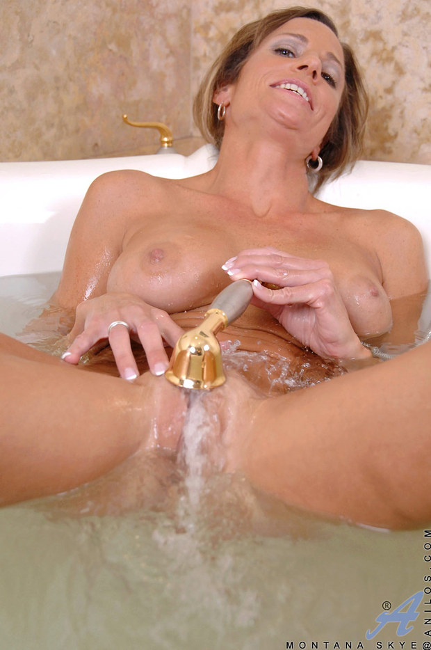 Masturbating with shower head porn