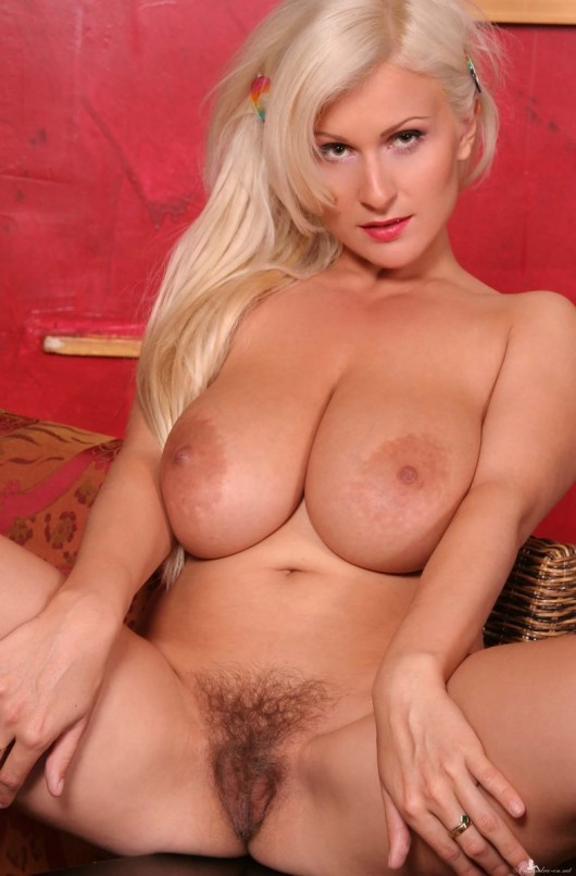 Remarkable, very Big tits and hairy pussy