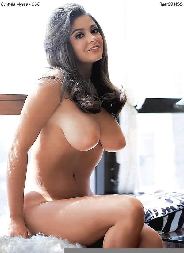 Playmate Cynthia Myers Babe Big Tits Vintage