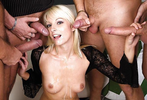 Group sex cumshot