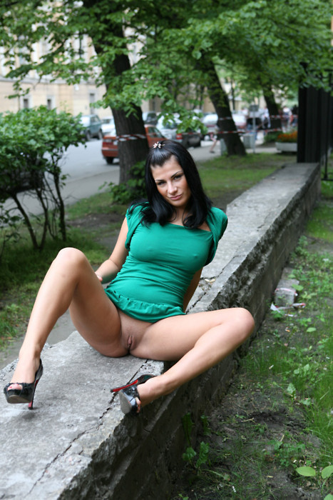 Banged upskirt outdoors fullyclothed