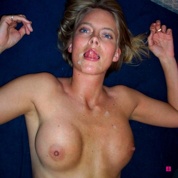 Blonde facial wife 1 scr