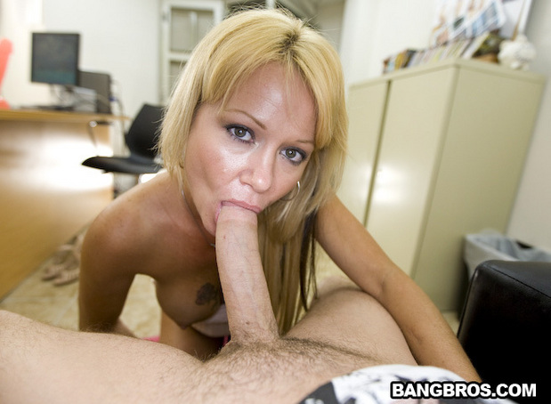 blonde cock sucking babe