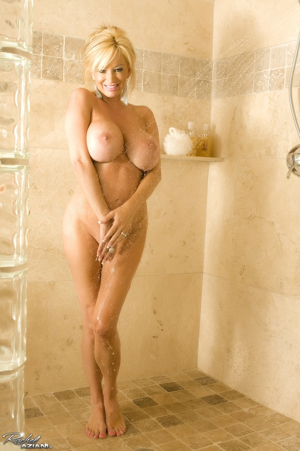 Blond shower tits