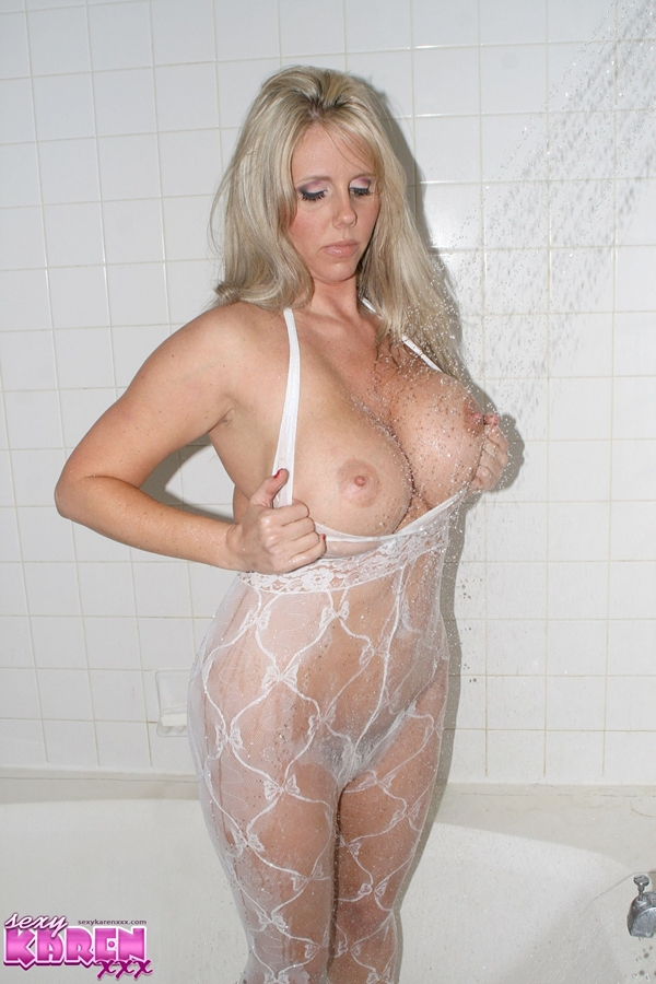 Sexy Karen; Big Tits Blonde Mature MILF