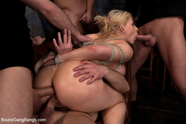 Big bondage gang bang
