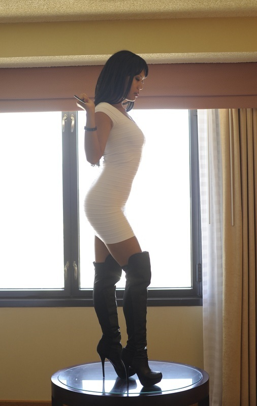 ...; Asian Boots Brunette Hot