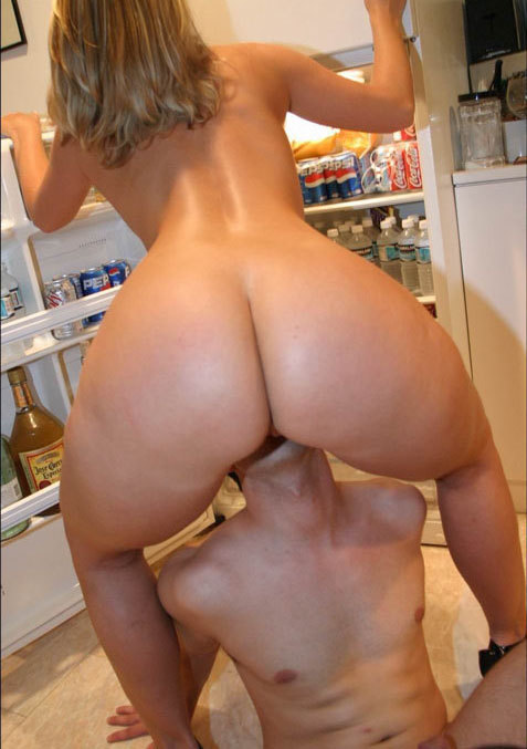 Blonde with huge ass