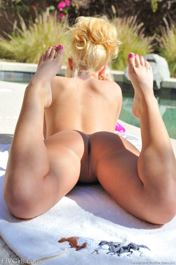 A View From Behind; Ass Blonde Pussy