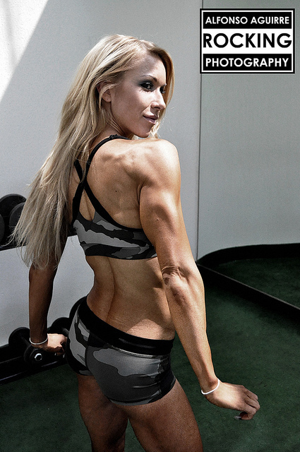 ...; Athletic Blonde Fitness Hardbody Hot Muscular Non Nude Triceps