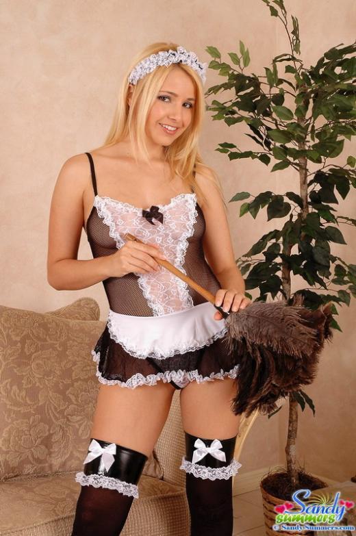 ...; Babe Blonde Lingerie Panties Uniform
