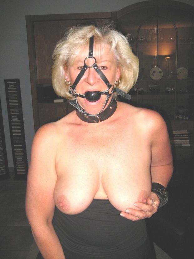 bondage Mature tit