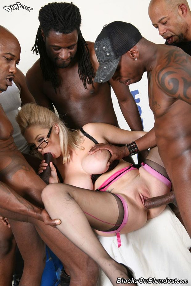 Big titted blonde interracial sex any