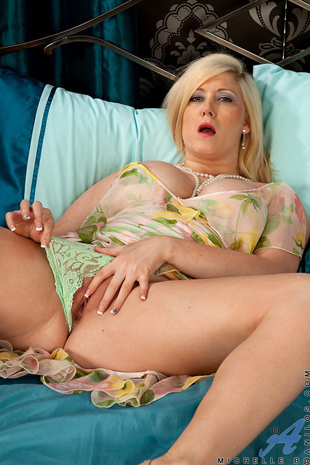 ...; Blonde Masturbation Mature MILF