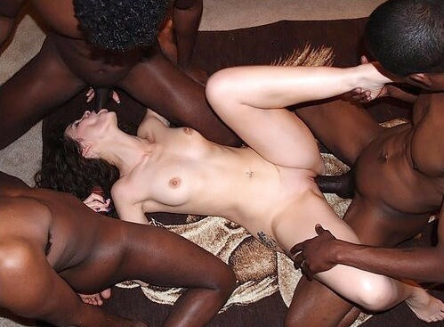 videos brunette gangbang .