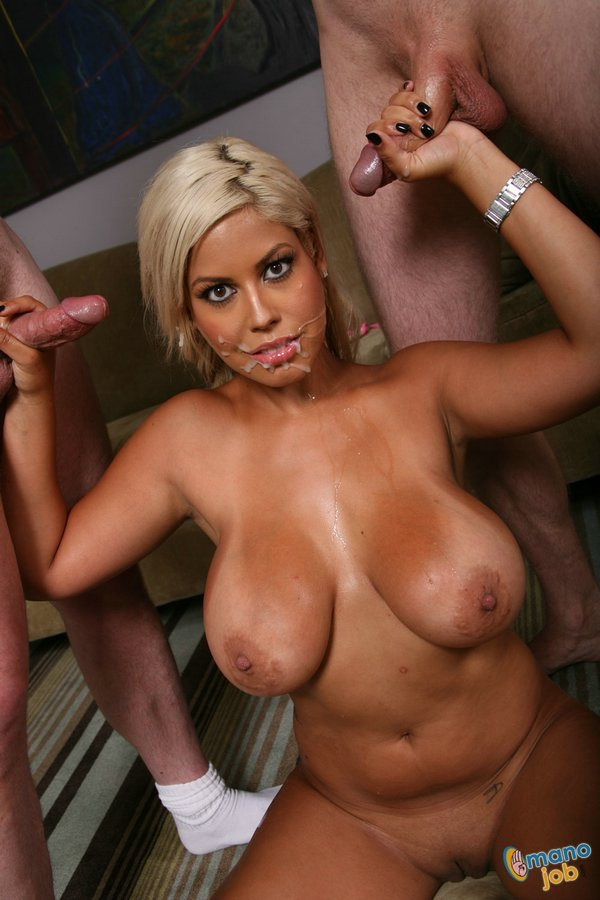 Huge tits gang bang