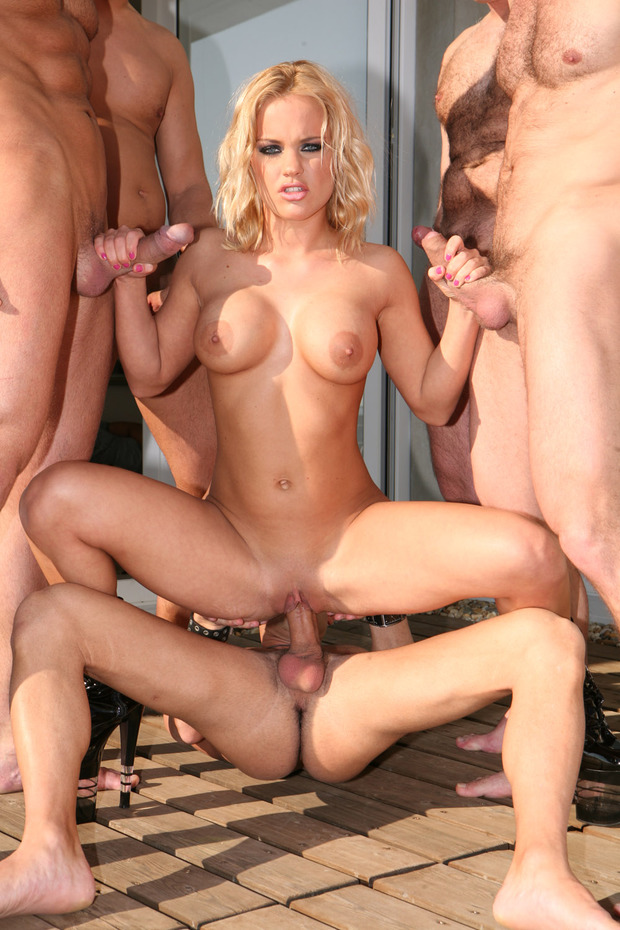Does not free blonde gang bang pics