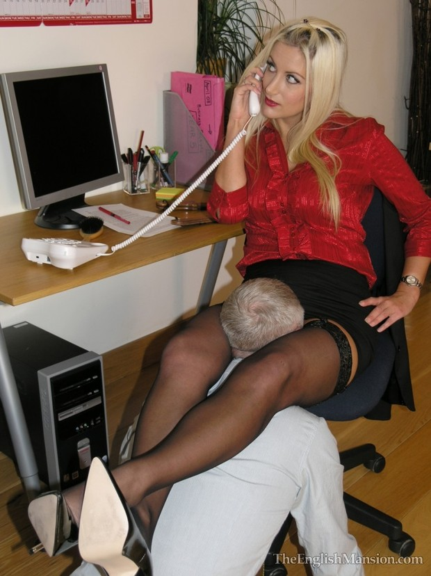 Working late again...; Bdsm Blonde Other