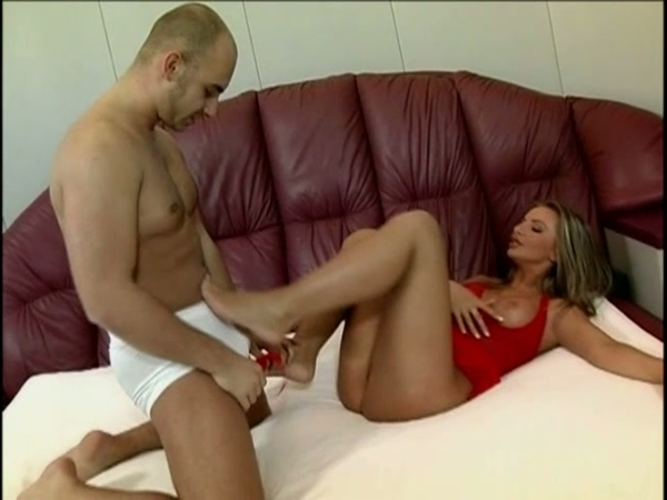 Busty Francesca Felneel Jerks Off Cock With Her Feet And Gets Banged Hard 5; Big Tits Blonde Blowjob Cumshots Fetish
