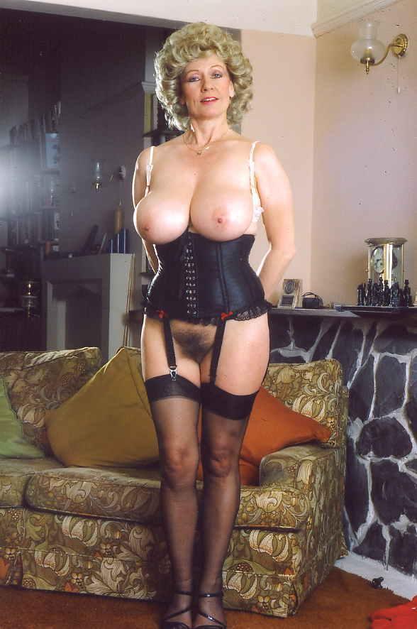 Classic big boobs panties woman