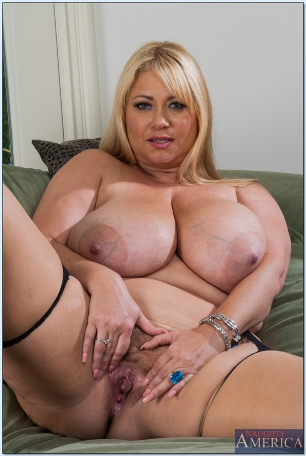 Blonde huge mature