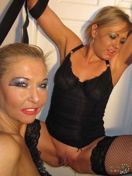 Blondie Blow And Horny Blonde Friend; Blonde British
