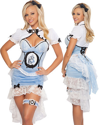 ...; Blonde Corset Dress Fantasy Non Nude Uniform
