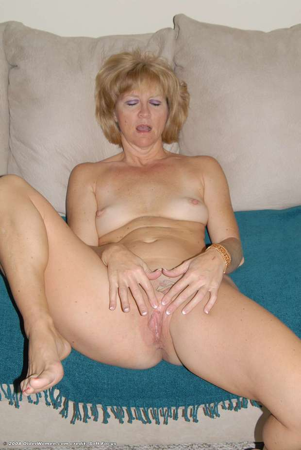 masturbating blonde milf