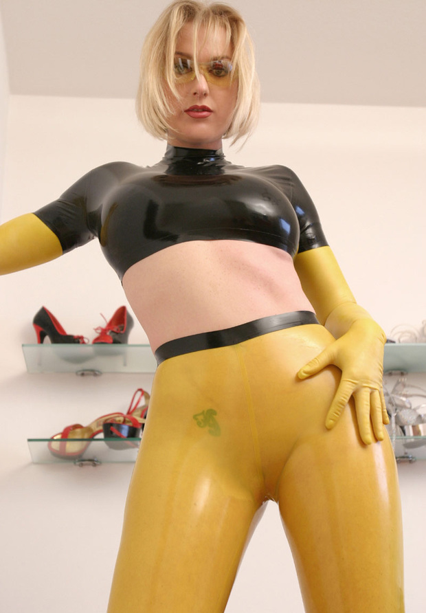 ...; Athletic Blonde Hot Latex Non Nude Shorthair
