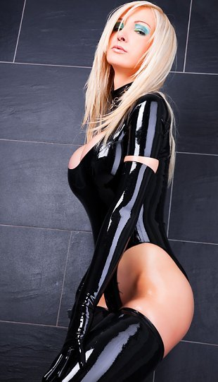 ...; Babe Big Tits Blonde Hot Latex Lingerie