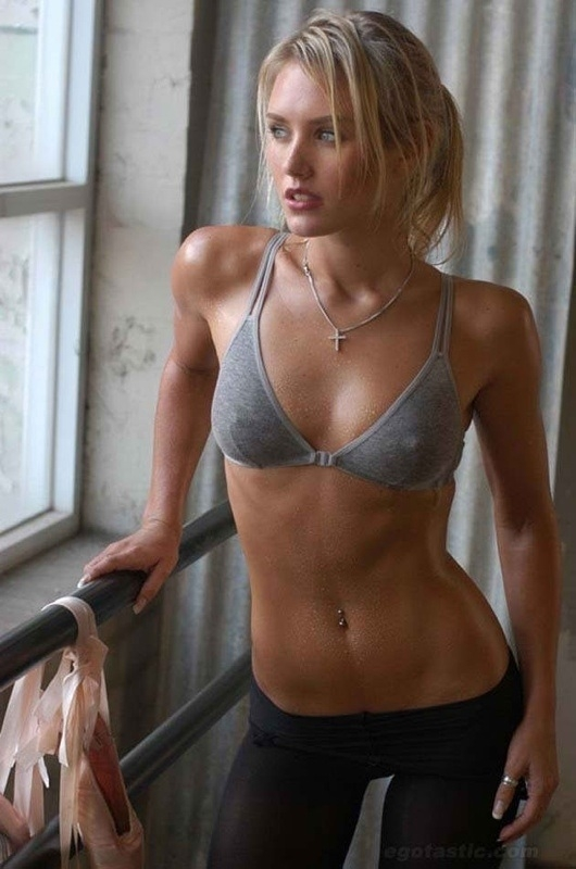 sexy work out; Babe Blonde Female Friendly SFW Athletic