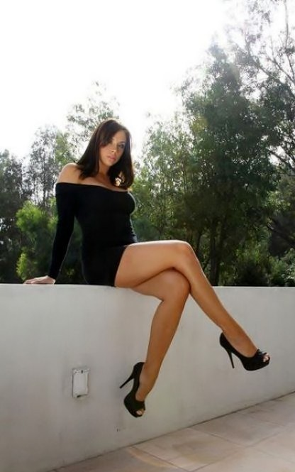 ...; Babe Brunette Dress Highheels Legs Non Nude