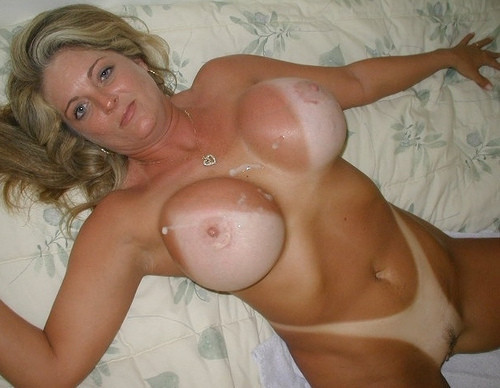 Big fake tits milf tan lines