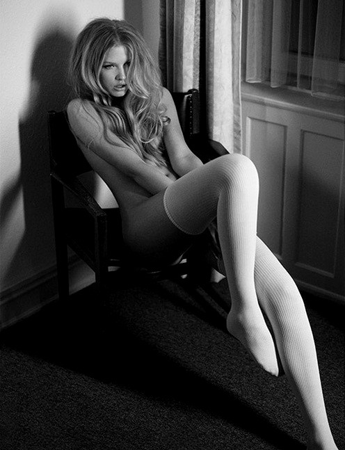 ...; Blonde Stockings